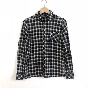 f63c57a73 Maje | buffalo check plaid button up blouse